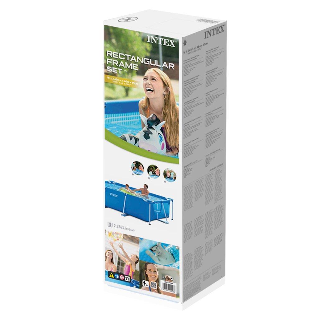 Family schwimmbad schwimmbecken intex neu rechteck frame for Rechteck pool zum aufstellen