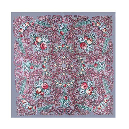Yammucha Silk Schal Cashew nationalen Wind Schal weibliche Kapuze Schal Schals dünn für Damen Mädchen Damen (Color : Hazel, Size : 90 * 90cm)