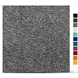 SMACC Filzuntersetzer aus Schafwolle, Quadratisch 8er Set (Farbe wählbar) - Glasuntersetzer aus 100% natürlichem Wollfilz, Untersetzer für Bar und Tisch Einrichtungsideen als Tischdeko (Grau)