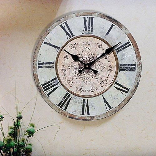 Dekoration Mode retro Quarz Uhren Wanduhren Büro Uhren Wand Diagramme einfach Wohnzimmer Ideen Tisch Durchmesser 34/40/50/60 cm,B,20 Zoll