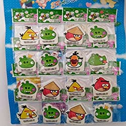 Aarvi Angry Bird Pencil Eraser Birthday Return Gift for Kids (Pack of 16 Pcs)