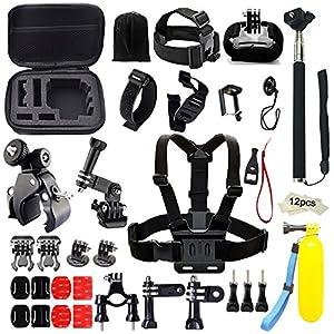 Iextreme 43 en 1 Kit d'accessoires pour GoPro 5/4/3/2/1 Accessoires Bundle Ensemble pour le Camping Plongée Montagne Cyclisme Octopus Trépied+Selfie Stick+Poignée Flottante+Cas et Autres Accessoires