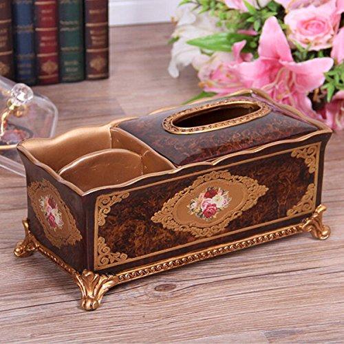 COLLECTOR Tissu multifonctionnel zone continentale de serviette en bois boîte table basse salon idée livre boîte boîte de rangement,Brown