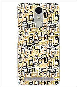 PrintDhaba Pattern D-5237 Back Case Cover for LENOVO K5 NOTE (Multi-Coloured)