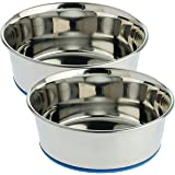 Pets Empire Pet Heavy Dog Bowl Export Quality with 100% Silicon Bonded Rubber Base Stainless Steel Dog Food Bowl Feeder Bowls
