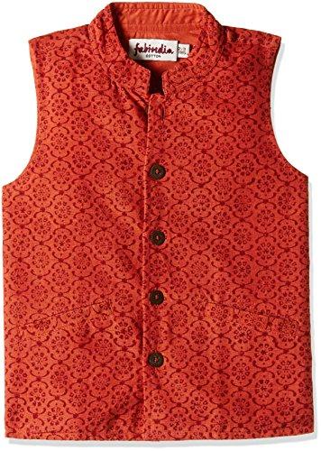 Fabindia Boys' Jacket (10433701_Rust_7 - 8 years)