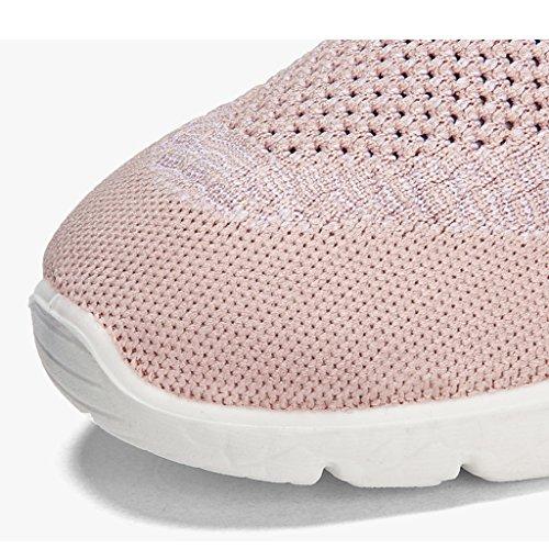 HWF Scarpe donna Primavera Sport Donna Casual Mesh Shoes Traspirante Scarpe da donna Studente Scarpe da corsa piatte ( Colore : Bianca , dimensioni : 35 ) Rosa
