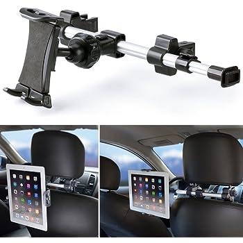 iKross - Supporto Universale Poggiatesta Schienale per Tablet da 7-10.2 pollici, Regolabile e 360 Gradi di Rotazione, Nero