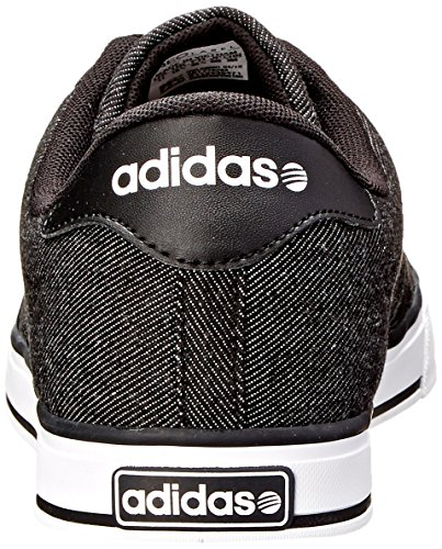 Adidas Neo SE Daily Vulc Lifestyle Skateboarding chaussures, gris / blanc / gris, 13 M Us Black/Black/White