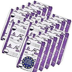 Pack de 500 Kg (20 sacos de 25 kg.) ENISAL Sal Especial Piscinas – Cumple con la norma europea EN 16401/A (Sal Calidad A para piscinas de electrólisis Salina)