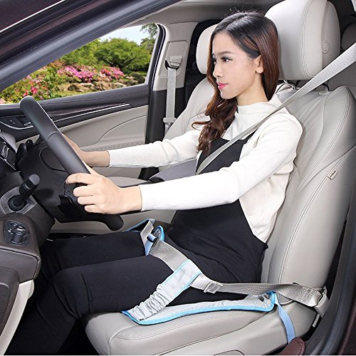 BIGWING Style Pregnancy Safety Belt Ajustable Pregnant Car Seatbelt Safety Pregnant Woman Expectant Mother Car Seat Belt Pad Protection-Blue