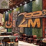 Bjklhsfdg Personalisierte Creative 3D Wood Texture Tapete Retro Bar Ktv Restaurant Hintergrundbild Wandmalereien In Der Stereoanlage