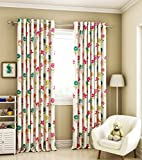 Curtain Label Wonderland Kids Cotton Printed Eyelet Curtain (Multi, 4.5 Feet X 7.5 Feet (W X H))
