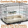 "Dog Crate Puppy Cage Small Medium Large XL XXL Metal Folding Training Cage With Metal Tray (Design 5 Comfort Plus Cage, Size 5 - 48"" XXL)"