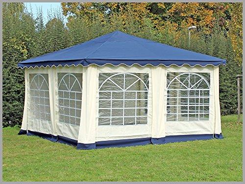 stabilepartyzelte Pavillon 4x4m De Luxe Polyester Blau Partyzelt 4x4m Verkaufszelt wasserdicht