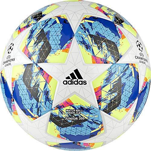 adidas Jungen Finale TT J350 Turnierbälle für Fußball, top:White/Bright Cyan Yellow/Shock pink Bottom:Collegiate royal/Black/solar orange, 5