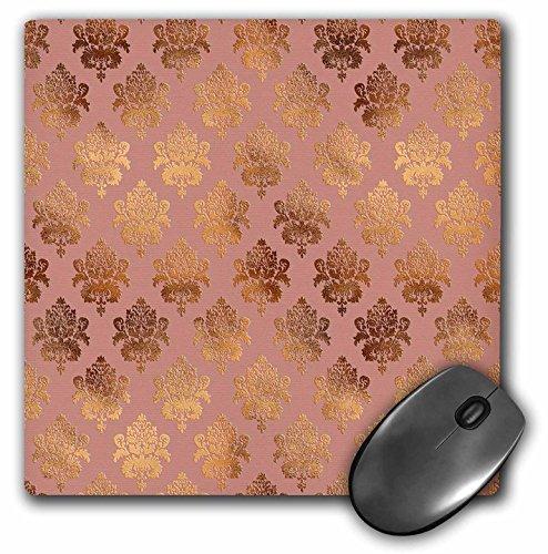 3dRose mp_272876_1 Mauspad, 20,3 cm, luxuriös, glänzendes Roségold/Kupfer-Muster, mehrfarbig
