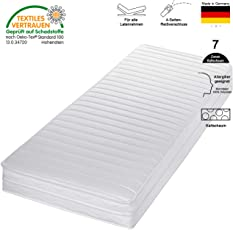 cpt hydrovital Kaltschaummatratze - 7 Zonen Matratze - Härtegrad H2 H3 - Rollmatratze - Made IN Germany
