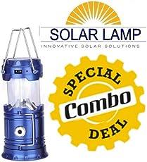 GKP Products Combo of -3 1x 6 LED Solar Power Camping Lantern Light Rechargable, 1x Mini USB Small Cooler Fan & 1x Mini Mushroom Portable Bluetooth Speaker