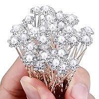 iShine 20 pcs Wedding Flower Crystal Rhinestone Pearl Hair Clip Pins Bridal Bridesmaid Lovely Hair U-clip Chic Hair Accessory