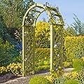Pergola mit Rundbogen 119x58x240 cm Rosenbogen aus Holz mit Rankgitter von Gartenpirat® von Gartenpirat bei Du und dein Garten