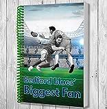 Bedford Blues Biggest Fan A5Rugby ordinateur portable/bloc-notes/bloc de dessin