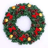 Unbekannt Xmas Weihnachtskranz Weihnachten Weihnachtsdeko Türkranz Kranz Weihnachtsgirlande Garland Deko-Kranz Girlande Ø 50CM (Xmas-2)