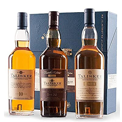 Classic Malt Talisker Collection Single Malt Scotch Whisky Gift Set (3 x 20cl Bottles)