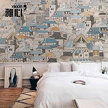 Hanhuan Art Deco Carta Da Parati Fotomurali Impermeabile Dimensioni