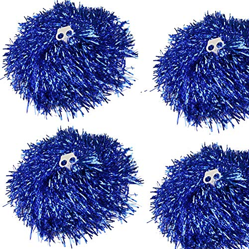 ding Pom Poms, Cheerleader Pompons für Ball Dance Kostüm Night Party Sports (blau, 100g) ()