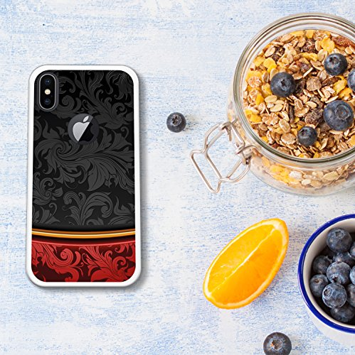 iPhone X Hülle, WoowCase Handyhülle Silikon für [ iPhone X ] Weißer und blauer Marmor Handytasche Handy Cover Case Schutzhülle Flexible TPU - Transparent Housse Gel iPhone X Transparent D0575
