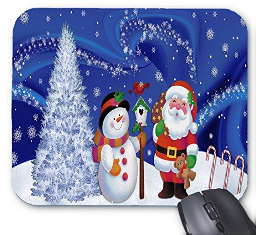 Gelb-belkin Components (Schneeflocke fliegen - Weihnachtsmann und Schneemann und Chrismas Baum Kombination Mauspad 9,84 x 11,8 Zoll)