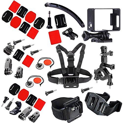 firststore GoPro Kit Accessori per Go Pro Hero 4Sessione 3+ 21Sport fotocamera (15pezzi)