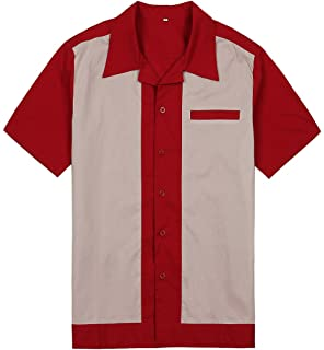 3011fde13c6 Candow Look red cream UK designer rockabilly men shirts cotton short sleeves