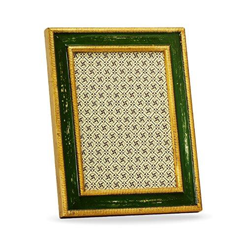 Belcraft Avola Bilderrahmen, Holzrahmen, Handgearbeitet in italienischem Stil, Fotorahmen, Fotogröße 13x18 cm,Geschenkbox, Green (18x23 cm) - Italienische Holzrahmen