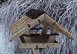Vogelfutterhaus mit Reetdach und Heidefirst, 'Friesenhaus klein'
