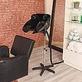 Hairdressers Delux Portable Tilting Black Backwash Stand