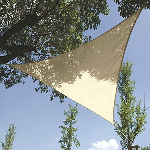 Toile d'ombrage triangulaire 5x5x5m crème