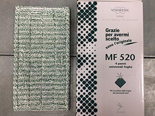 1 PANNO UNIVERSALE FUGHE MF520 ORIGINALE VORWERK FOLLETTO PER LAVAPAVIMENTI SP520 SP530