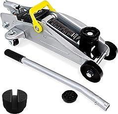 Deuba® Hydraulischer Wagenheber | 2 Tonnen | + Koffer | Roll- und Lenkbar | inkl. 2 Gummiauflagen Stahlverstärkung - Modellwahl