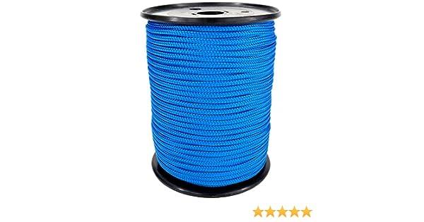 Kanirope/® PP Seil Polypropylenseil MULTIBRAID 10mm 5m geflochten Farbe Blau 0912
