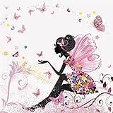 Papel pintado con foto, diseño de elfo mariposa KT438, dimensiones 280 x 260 cm, cuento infantil para niña