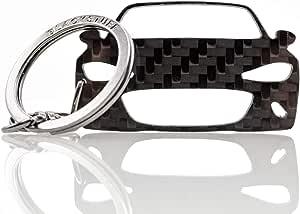 Blackstuff Carbon Karbonfaser Schlüsselanhänger Kompatibel Mit Mx5 Nd Mk4 Bs 645 Auto