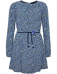 Tom tailor kleid mit schleifen applikation marineblau