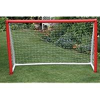 Gorilla Training Football Goal - White/Red, 8 x 5 ft