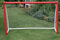 Portable inflatable goal;Durable lightweight and safe;Fits easily into carry bag;Goal is simple to rollout and repack for convenient storage;2-way pumpwhich inflates and deflates;Ready in seconds;Pre-attached net allows for immediate playing ...