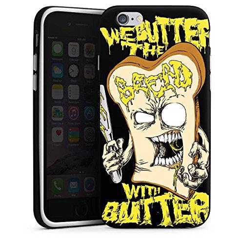Apple iPhone X Silikon Hülle Case Schutzhülle We Butter The Bread With Butter Fanartikel Merchandise Deathcore Silikon Case schwarz / weiß