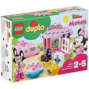 LEGO DUPLO Disney La Festa di Compleanno di Minnie, Gioco Educativo con Macchina Giocattolo, Set di Grandi Mattoncini… LEGO