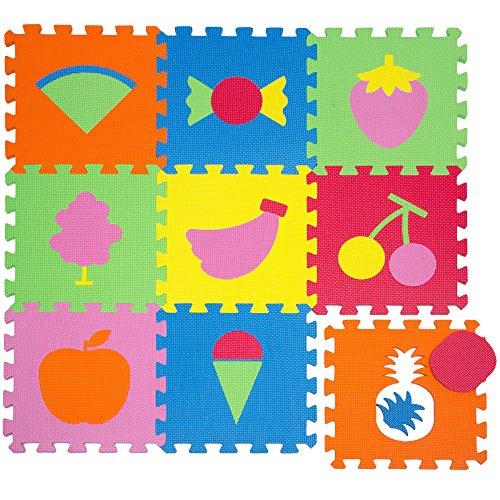 LittleTom Alfombras Puzzle para Bebé Alfombrilla Niños Suelo Goma EVA Frutos