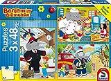 Schmidt Spiele 56209 - Puzzle Benjamin Blümchen, 3 x 48 Pezzi